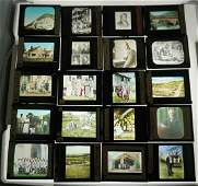 20PC MAGIC LANTERN GLASS SLIDES
