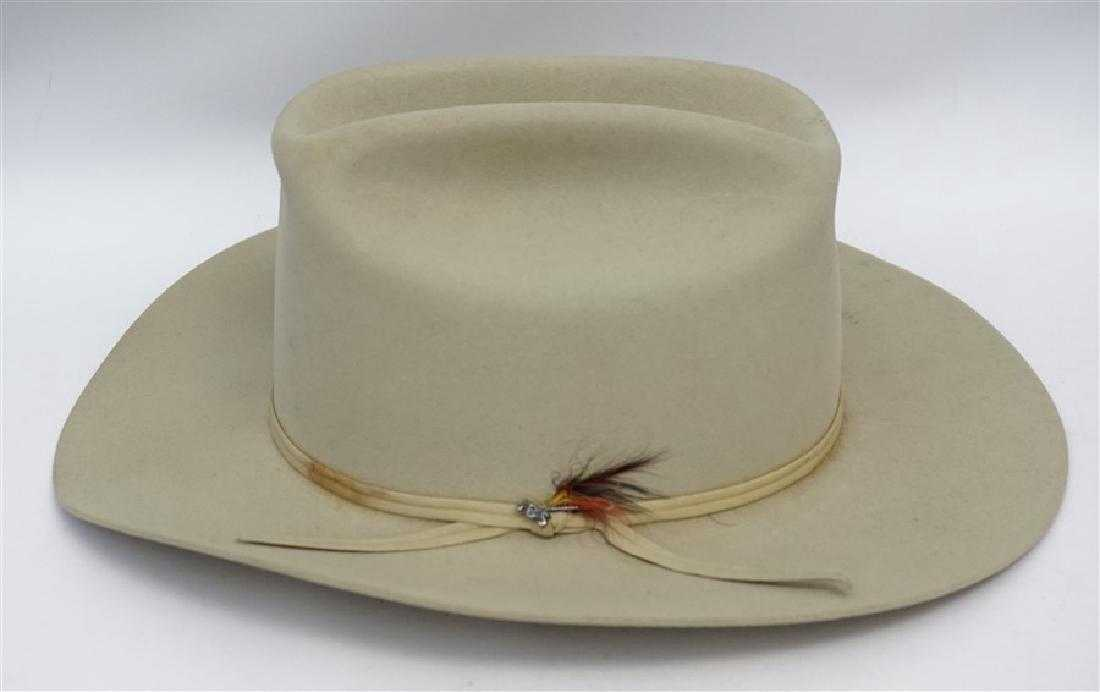 22ecd60e3f319 VINTAGE SILVER BELLY STETSON COWBOY HAT