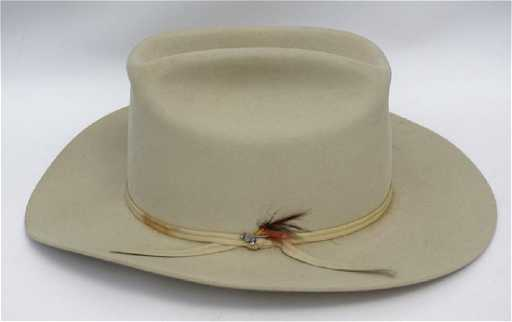 VINTAGE SILVER BELLY STETSON COWBOY HAT 5a93c6c1b43