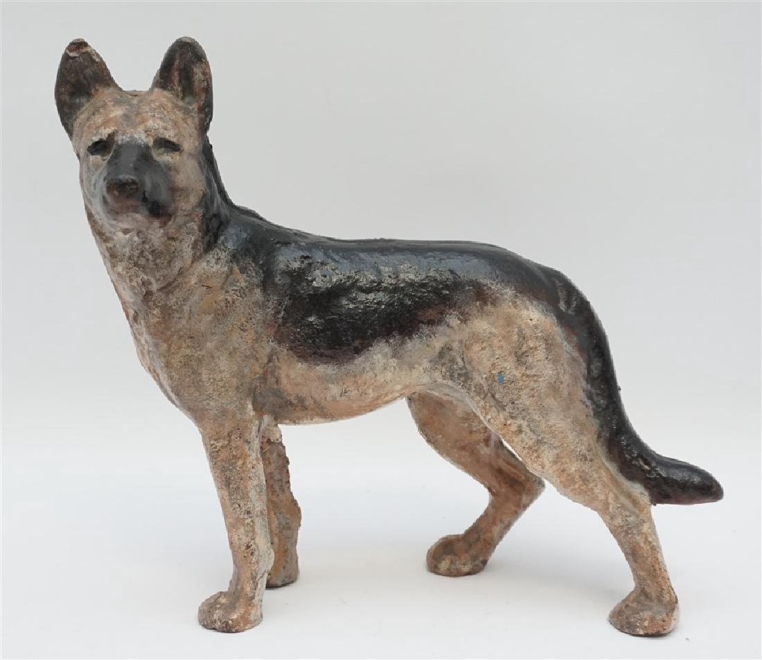 HUBLEY CAST IRON GERMAN SHEPHERD DOORSTOP