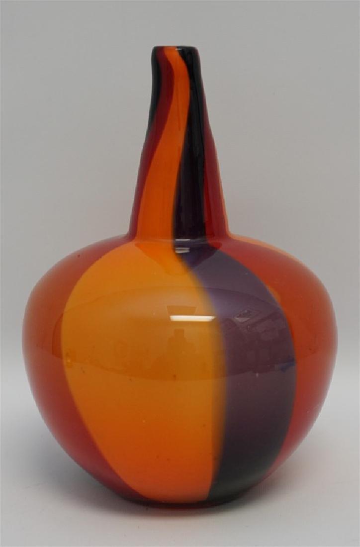 VINTAGE MODERN ART GLASS VASE