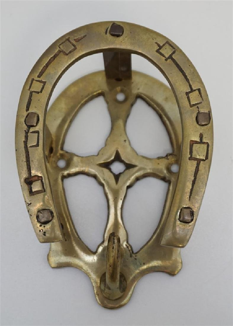 BRASS DOUBLE HORSESHOE BRIDLE RACK