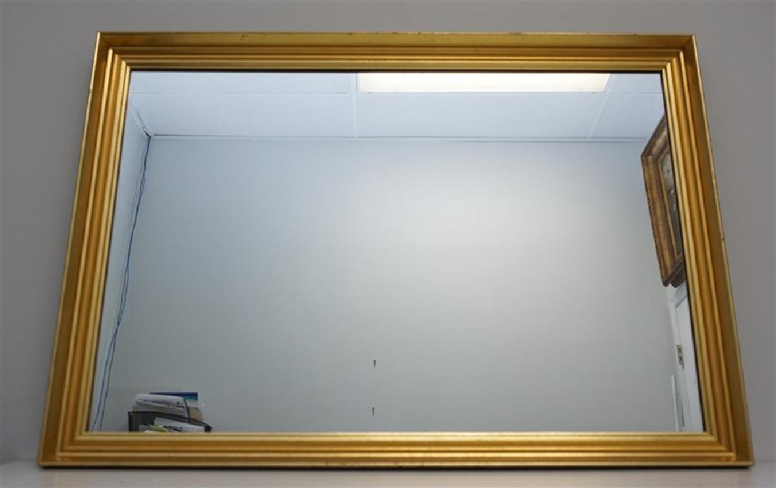 RECTANGULAR GILT FRAMED  MIRROR