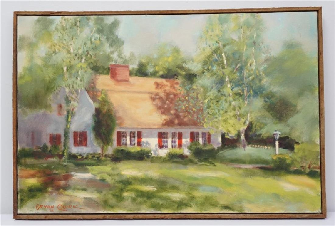 BRYAN QUIRK ST. MICHAELS MD OIL PAINTING