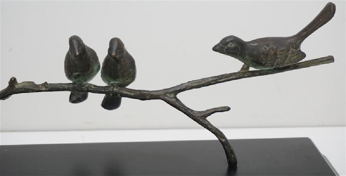 CONTEMPORARY TRIO BRONZE BIRDS ON BRANCH