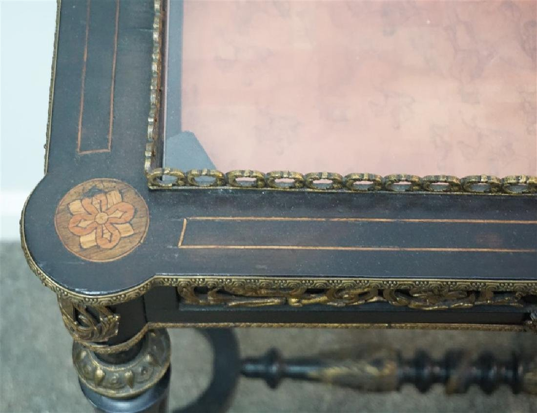FRENCH ORMOLU MOUNTED BIJOUTERIE TABLE - 3
