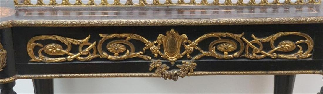 FRENCH ORMOLU MOUNTED BIJOUTERIE TABLE - 8