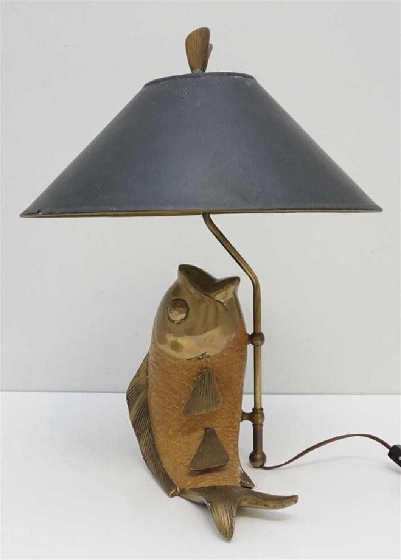 VINTAGE CHAPMAN JUMPING CARP LAMP
