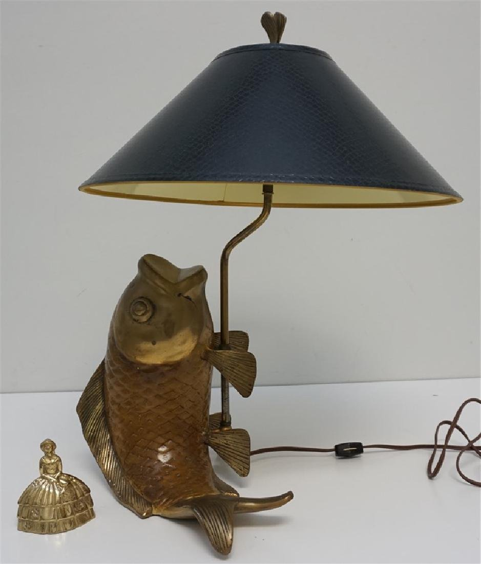 VINTAGE CHAPMAN JUMPING CARP LAMP - 10