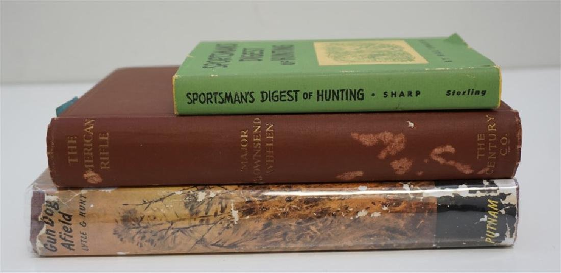 3 ANTIQUE RIFLE & GUN DOG & HUNTING BOOKS