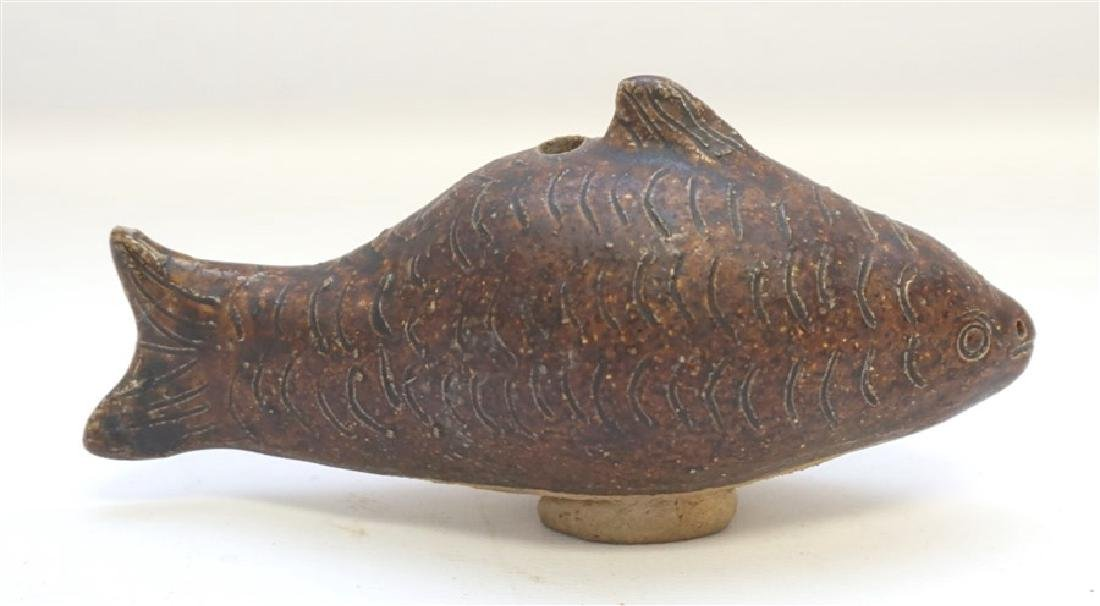 KHMER POTTERY FISH WATER DROPPER - 4