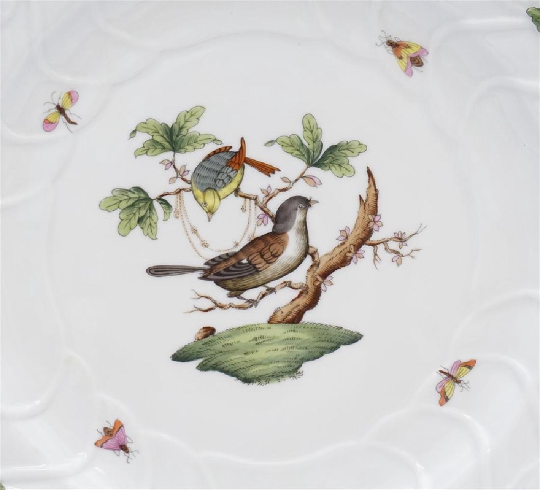 HEREND ROTHSCHILD CHOP PLATE w HANDLES - 2