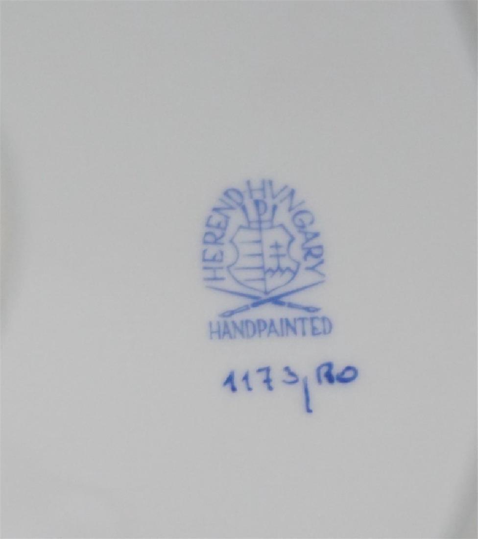 HEREND ROTHSCHILD CHOP PLATE w HANDLES - 8