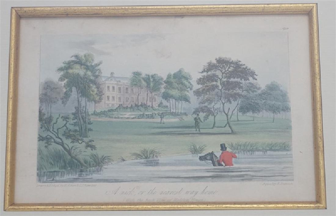 "1837 AQUATINT ENGRAVING ""A NICK OR THE NEAREST WAY"