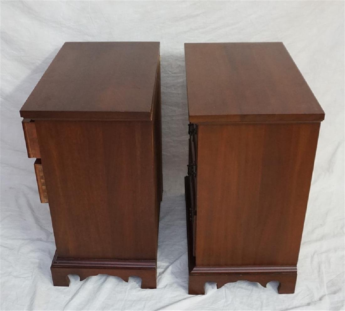 PAIR CRAFTIQUE SOLID MAHOGANY BED SIDE CHESTS - 2