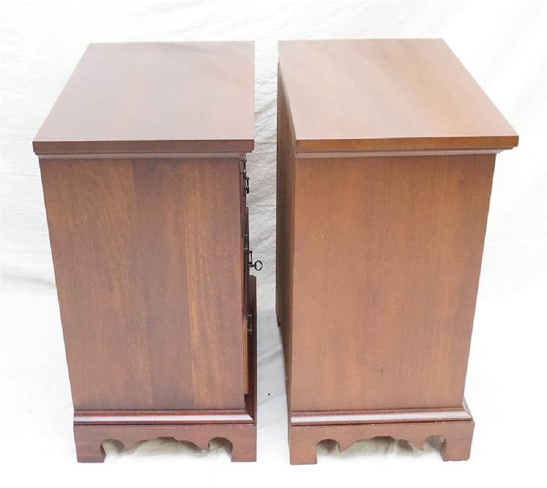 PAIR CRAFTIQUE SOLID MAHOGANY BED SIDE CHESTS - 4