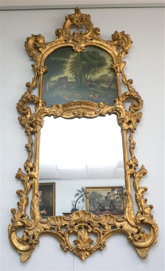 ORNATE LOUIS XV GILT TRUMEAU MIRROR NUDES