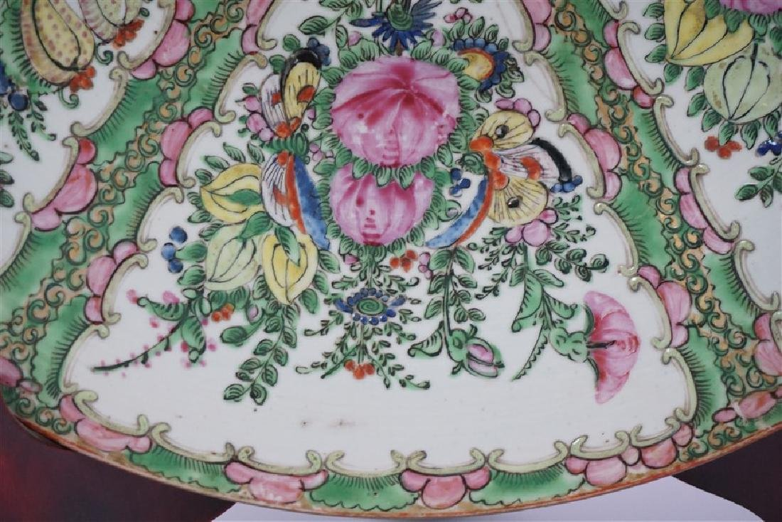 CHINESE EXPORT LARGE ROSE CANTON CHARGER - 4
