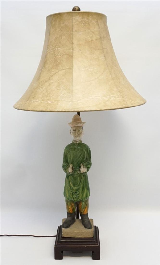 CHINESE TANG FUNERARY MAN LAMP
