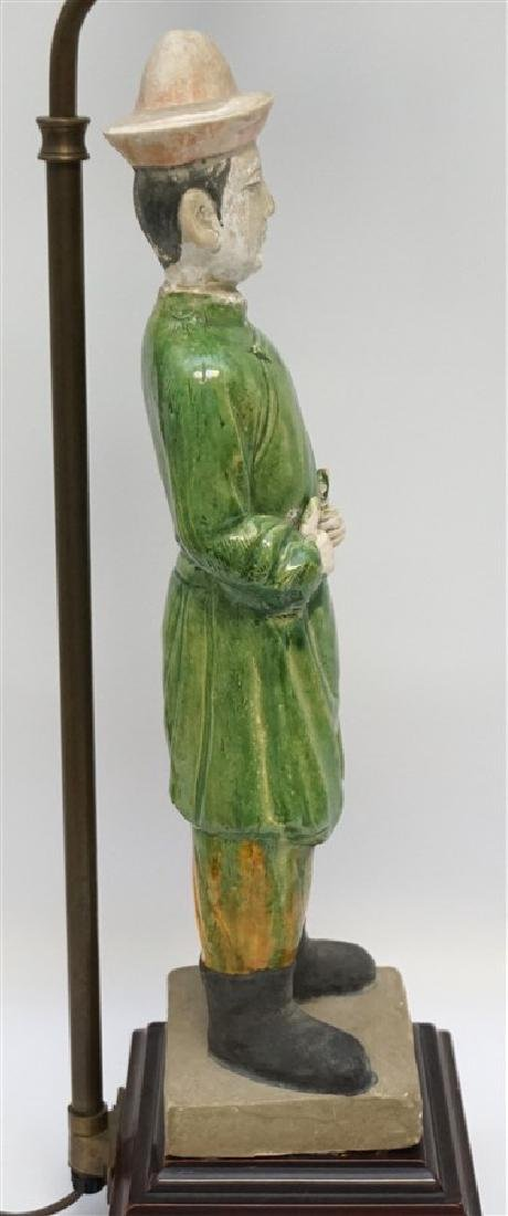 CHINESE TANG FUNERARY MAN LAMP - 5