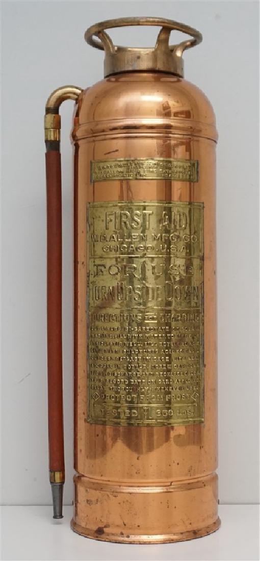 W.D. ALLEN COPPER & BRASS FIRE EXTINGUISHER