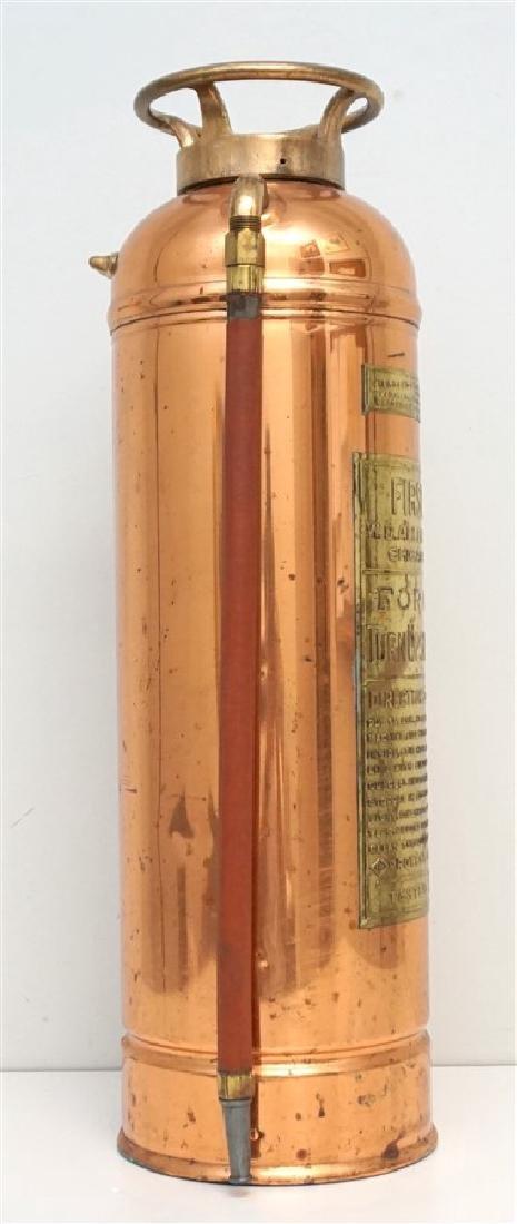 W.D. ALLEN COPPER & BRASS FIRE EXTINGUISHER - 5