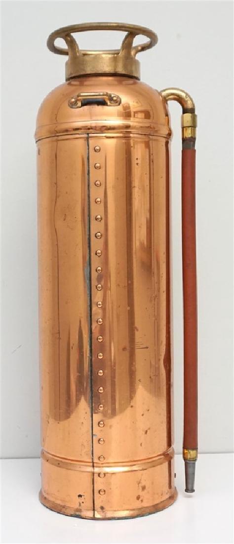 W.D. ALLEN COPPER & BRASS FIRE EXTINGUISHER - 6