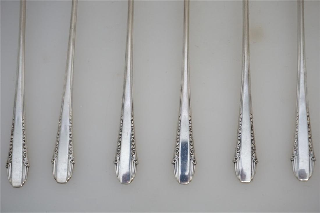 8 INTERNATIONAL STERLING ENCHANTRESS ICED TEA SPOONS - 2
