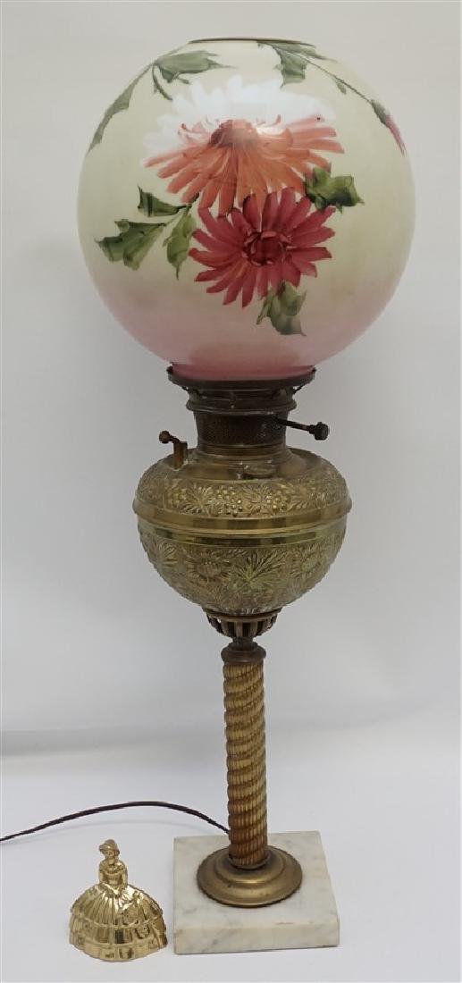 VICTORIAN BRADLEY & HUBBARD LAMP - 8