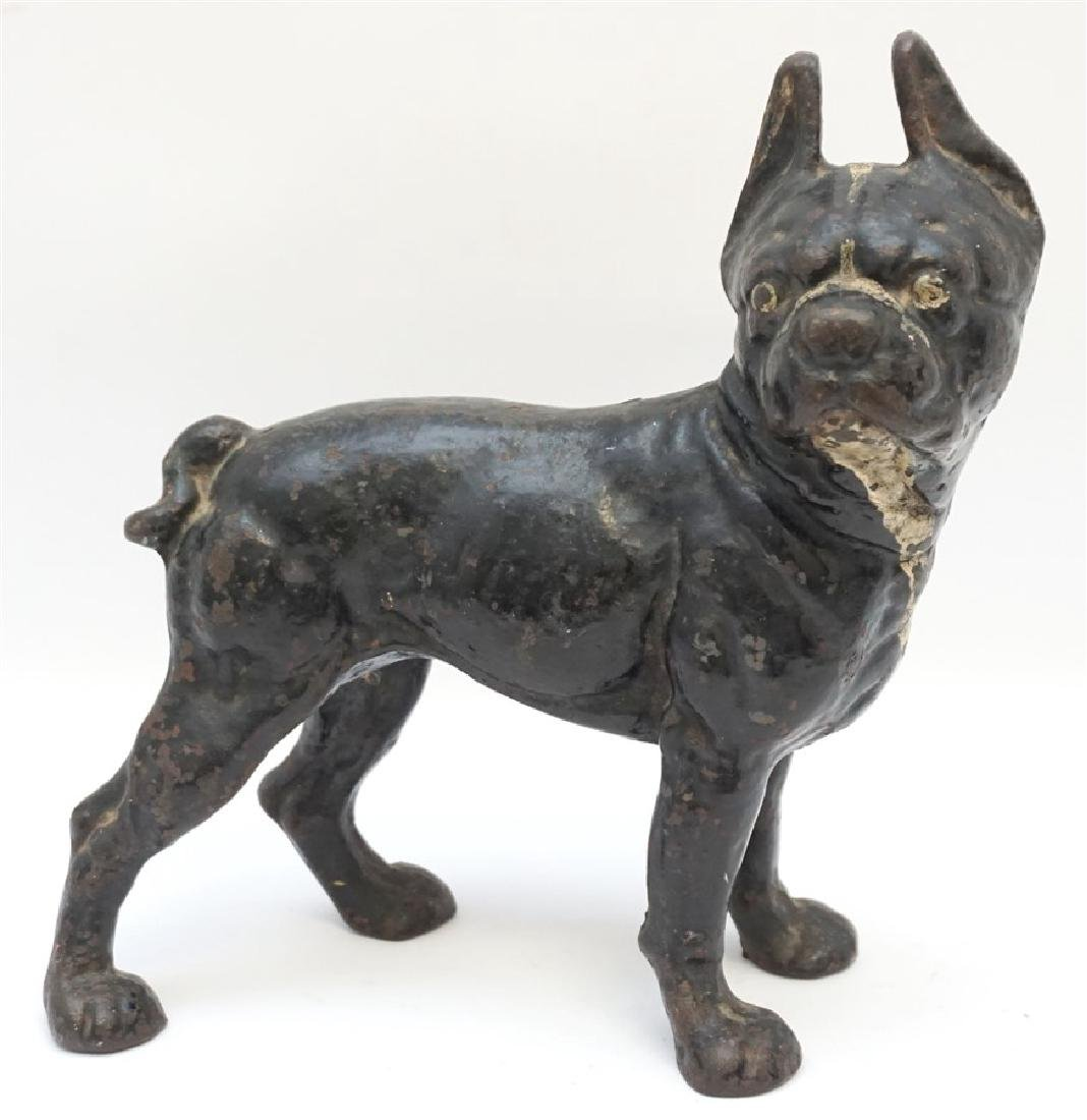 HUBLEY CAST IRON BOSTON BULL TERRIER DOORSTOP