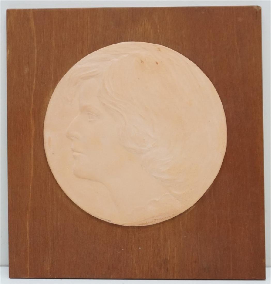 WILLARD HIRSCH (1905-1982) TERRA COTTA BAS RELIEF