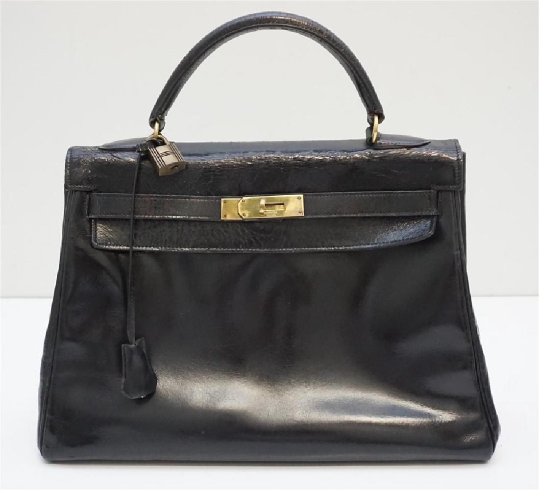 HERMES KELLY BAG NOIR