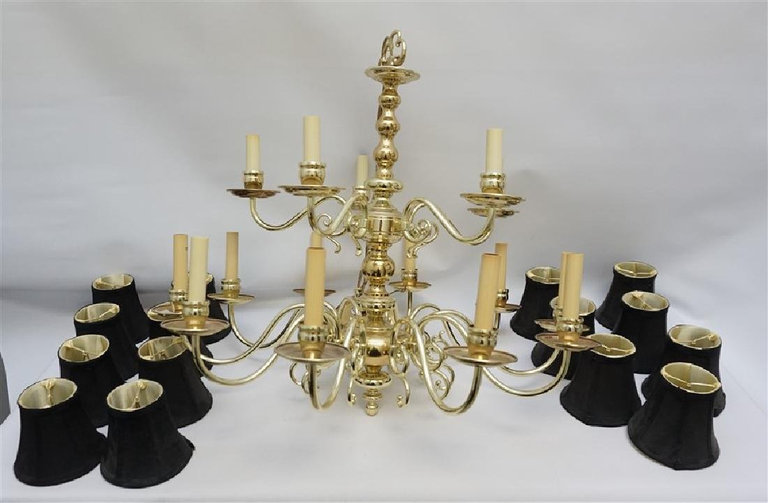 AMERICAN SOLID BRASS CHANDELIER 15 LIGHT