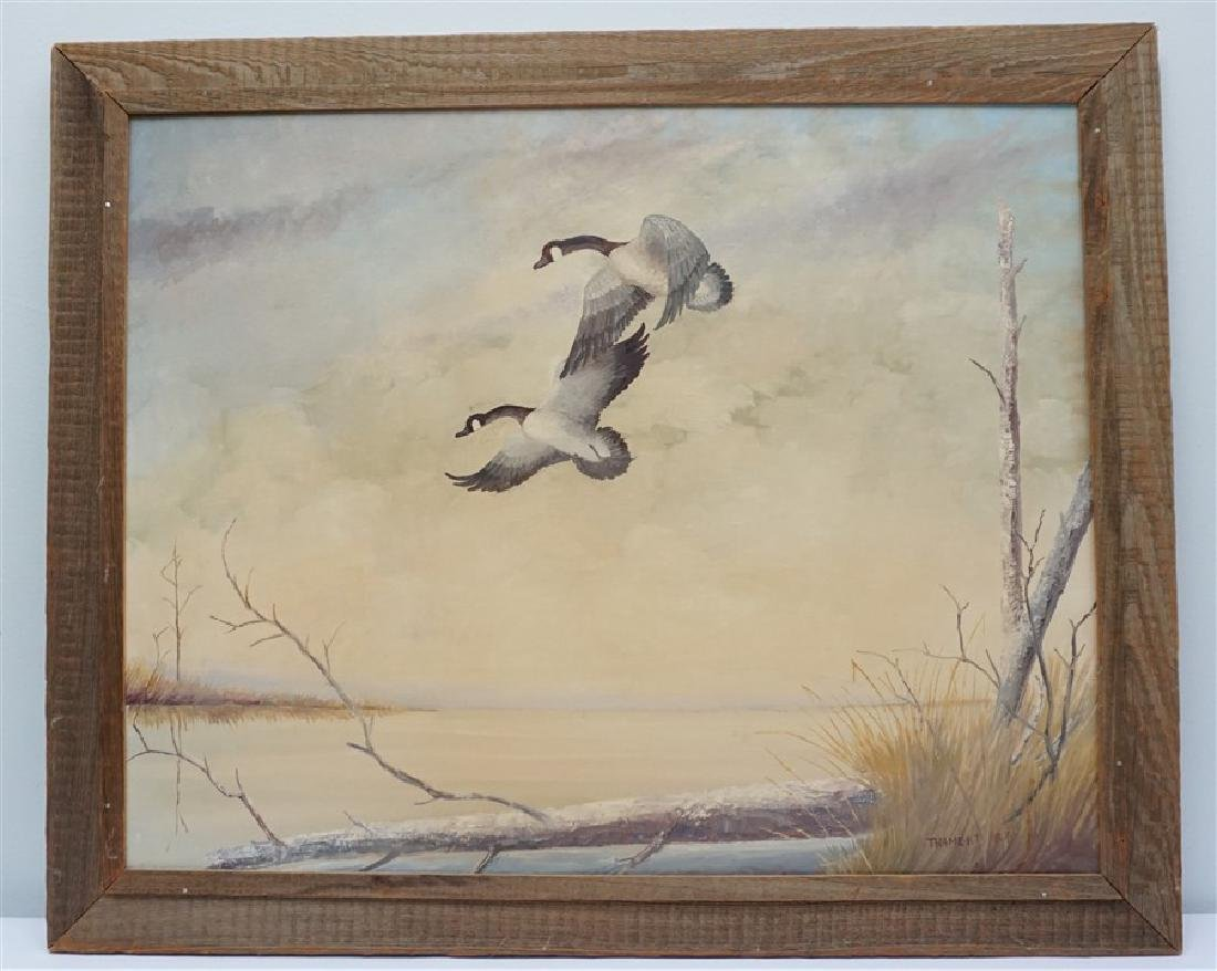OIL PAINTING ON CANVAS CANADIAN GEESE