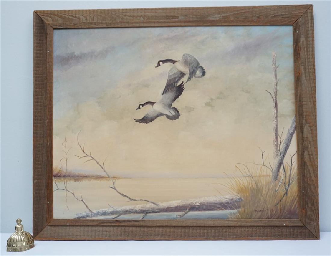 OIL PAINTING ON CANVAS CANADIAN GEESE - 5