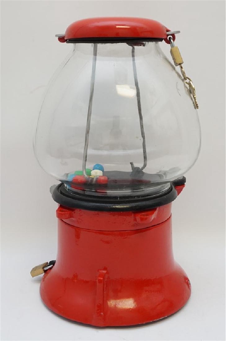 COLUMBUS 1930s PENNY GUMBALL MACHINE - 4