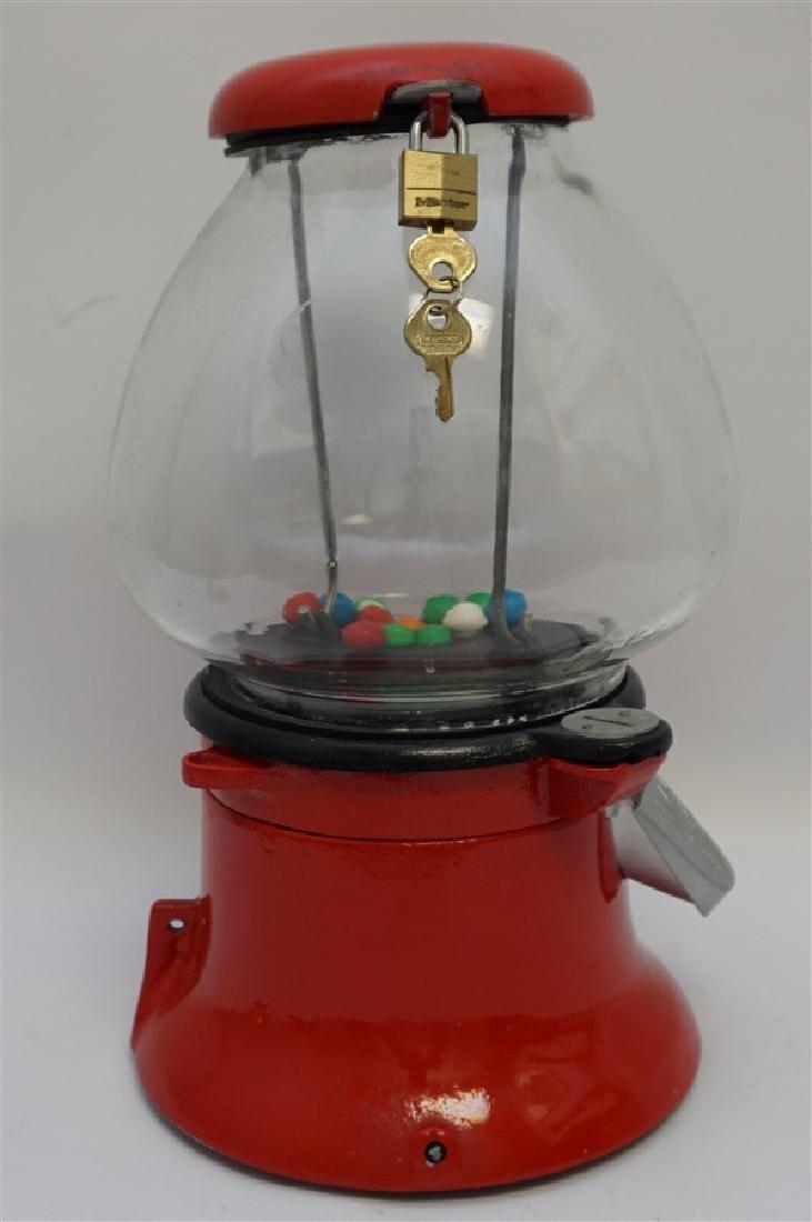 COLUMBUS 1930s PENNY GUMBALL MACHINE - 5