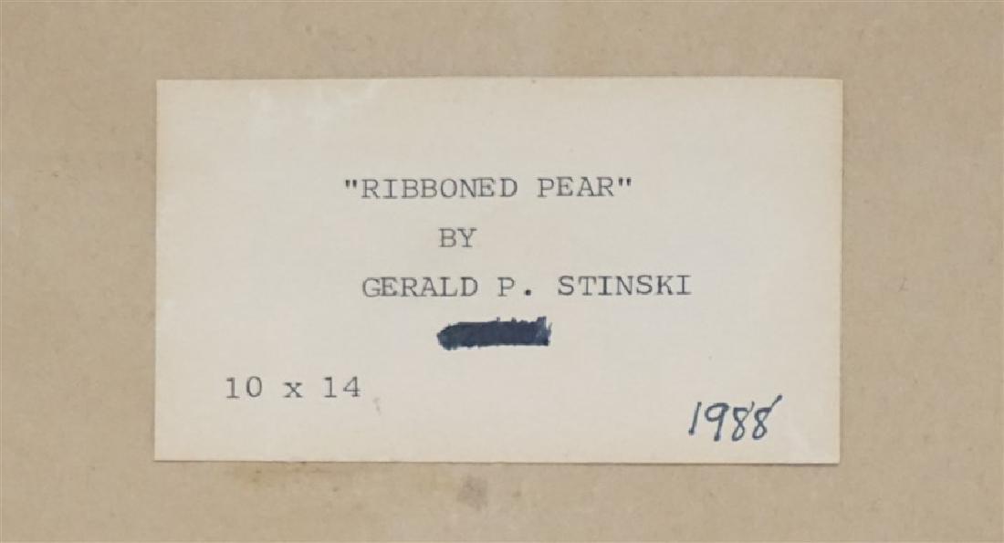 GERALD P STINSKI (1929-2015) RIBBONED PEAR STILL LIFE - 10