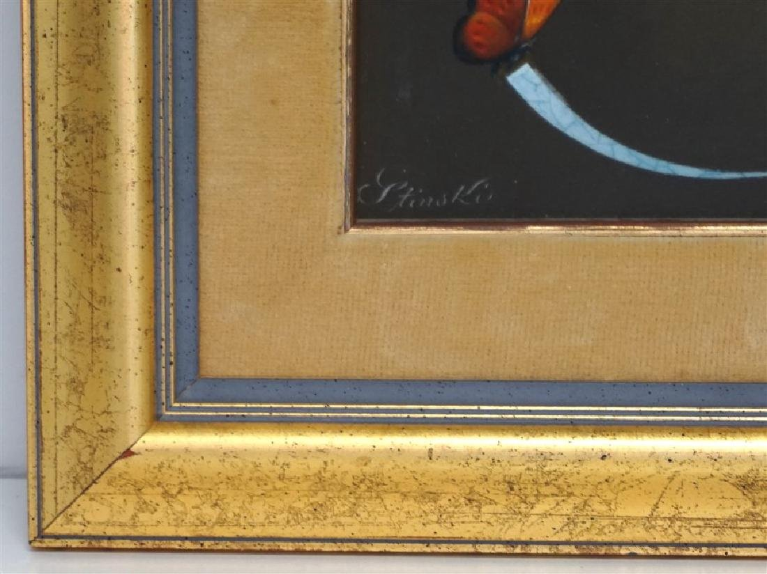 GERALD P STINSKI (1929-2015) RIBBONED PEAR STILL LIFE - 6