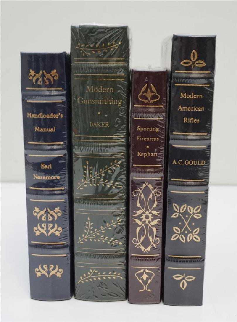 4 RARE GUN BOOKS - LEATHER BOUND PALLADIUM PRESS