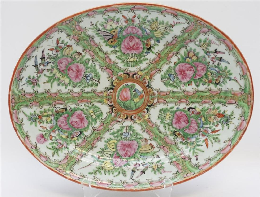 CHINESE EXPORT LARGE ROSE CANTON PLATTER