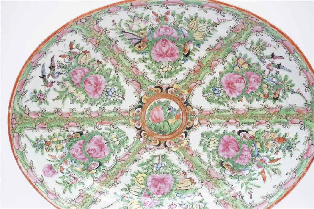CHINESE EXPORT LARGE ROSE CANTON PLATTER - 2