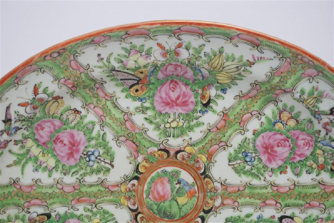 CHINESE EXPORT LARGE ROSE CANTON PLATTER - 3
