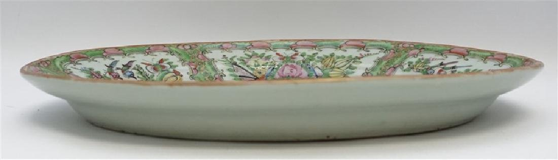 CHINESE EXPORT LARGE ROSE CANTON PLATTER - 6
