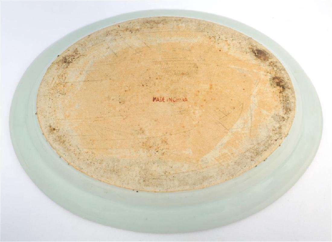 CHINESE EXPORT LARGE ROSE CANTON PLATTER - 7
