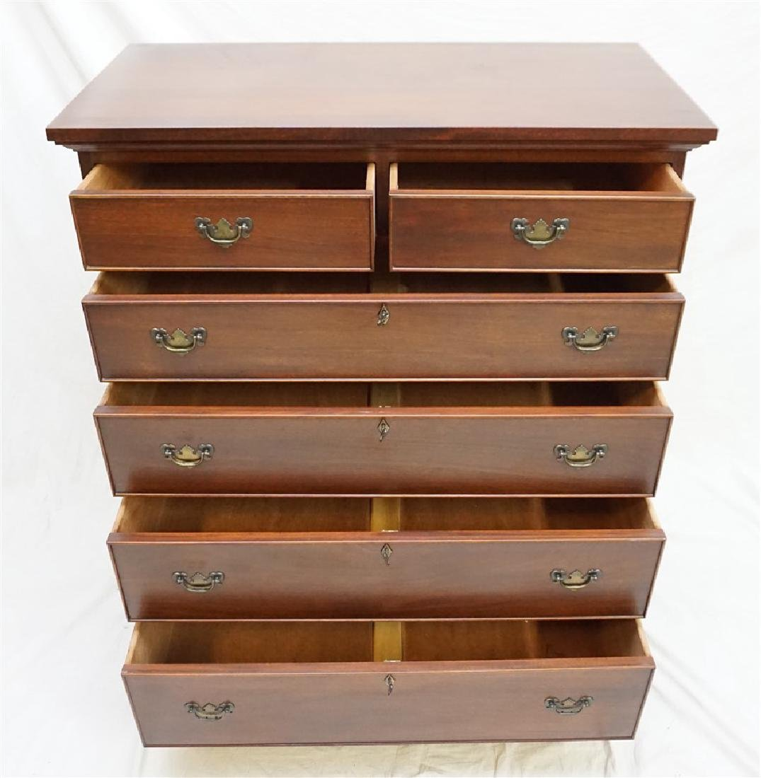 CRAFTIQUE SOLID MAHOGANY CHIPPENDALE CHEST - 3