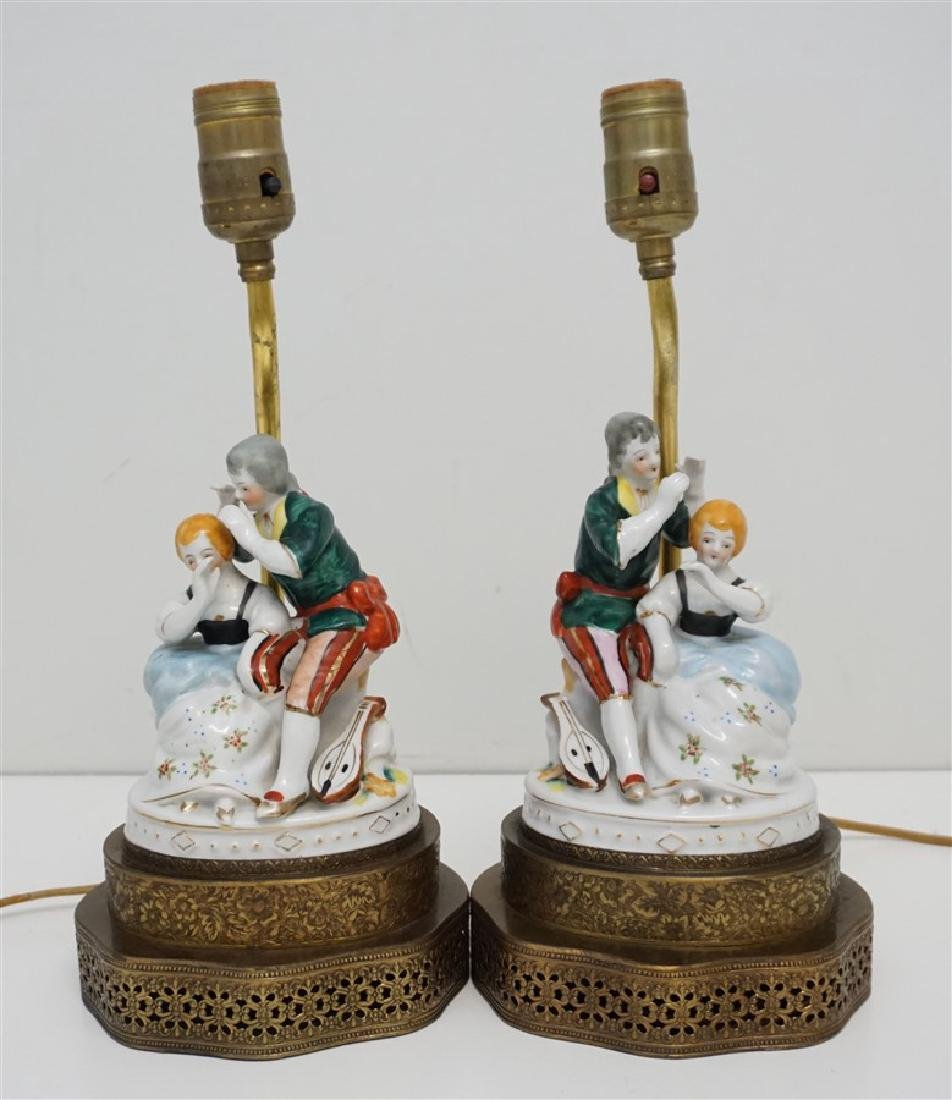 PAIR OF VINTAGE OCCUPIED JAPAN PORCELAIN LAMPS