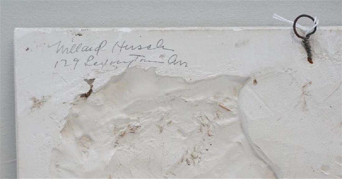 WILLARD HIRSCH (1905-1982)  PLASTER BAS RELIEF - 7