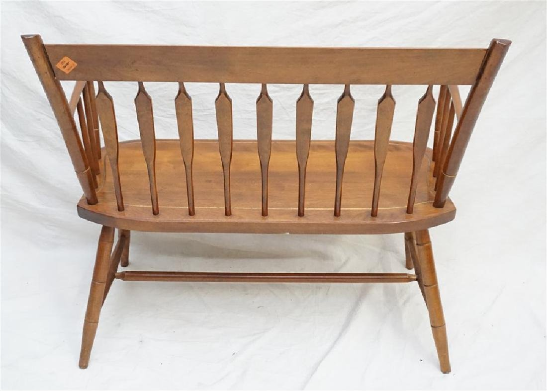 NICHOLS & STONE STENCILED MAPLE DEACONS BENCH - 4