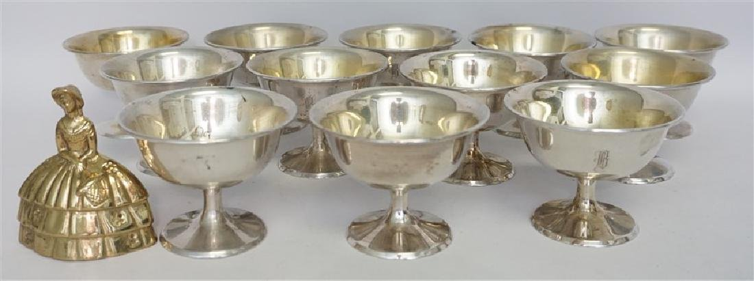 12 AMERICAN STERLING SILVER SHERBET DISHES - 6